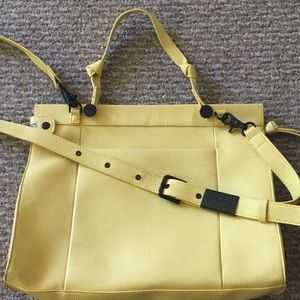 Pale Yellow Foley & Corinna X-Body Satchel Purse